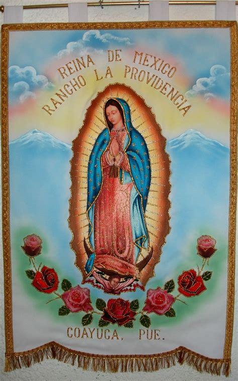 venta imagenes virgen de guadalupe estandarte bordado fino virgen de guadalupe con carita