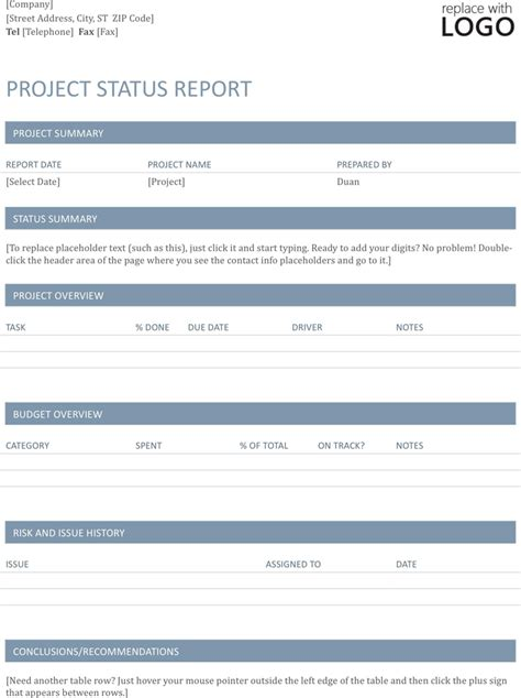 Software Project Report Template by The Project Status Report Template 1 Can Help You Make A