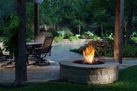 firepit landscaping pit dallas tx photo gallery landscaping network