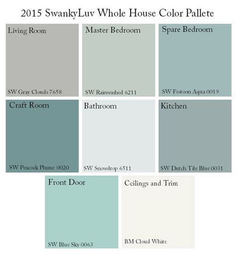 whole house color palette home paint color ideas with pictures home bunch interior