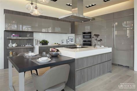 ash wood cabinets kitchen gray cabinets with custom wood countertops and butcher blocks