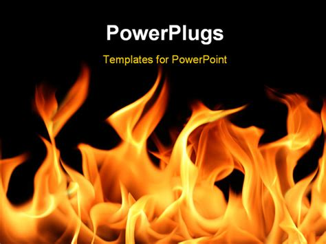 powerpoint templates free download fire powerpoint template fire and flames with black color 12299