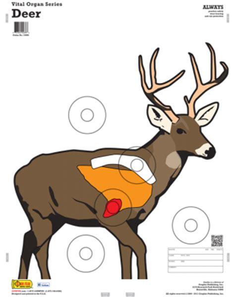 printable paper deer targets animals w vital organs 10 pack gunfun shooting targets
