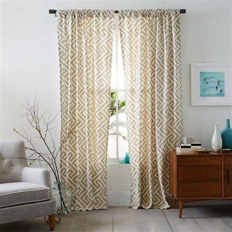 ikat curtains west elm cotton canvas ikat key curtain flax west elm
