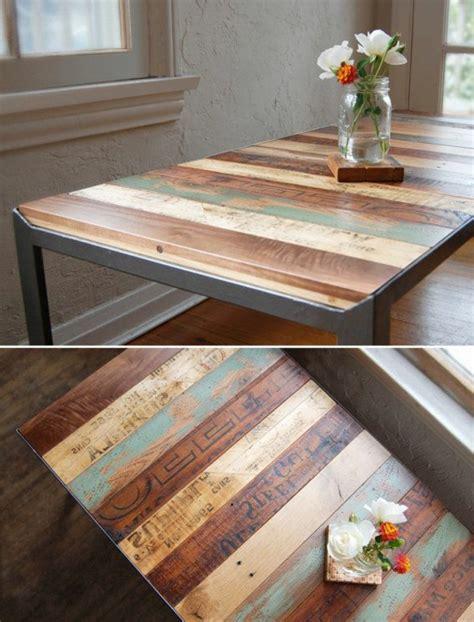 Délicieux Table De Cuisine En Palette #2: table-basse-avec-palette-insolite-color%C3%A9-fleurs.jpg