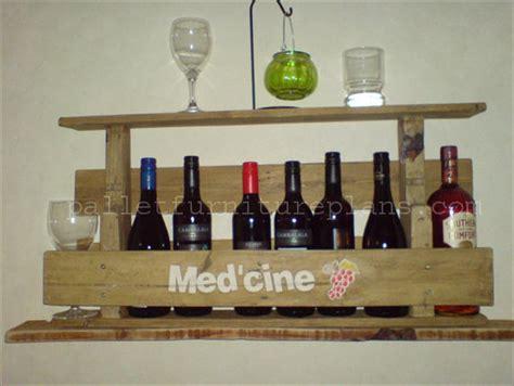 Pallet Wine Rack Plans by Rustic Repurposed Pallet Wine Rack Pallet Furniture Plans