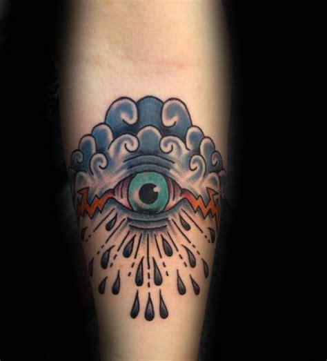 traditional cloud tattoo 50 traditional eye designs for school ideas