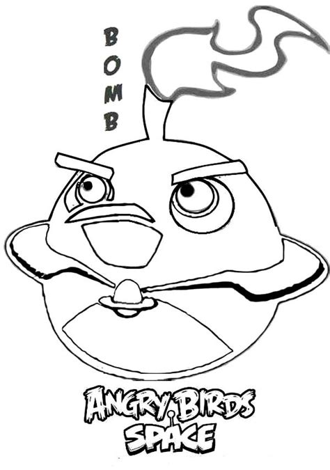 angry birds coloring pages bomb bird bomb bird in angry birds space coloring pages batch coloring
