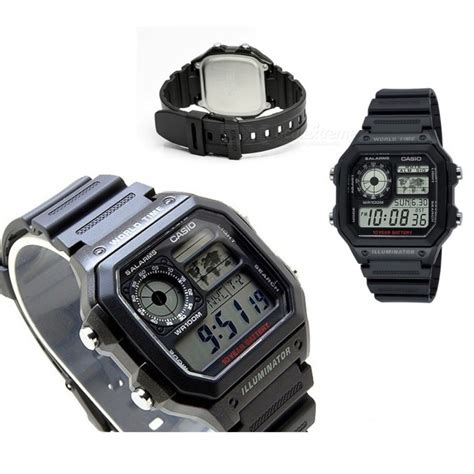 Jam Tangan Casio Ae 1200wh Black casio ae 1200wh 1avdf alarms black without