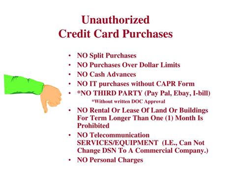 purchases on a credit card is ppt government purchase card gpc purchase of supplies