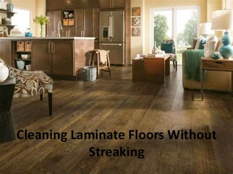 cleaning laminate floors without streaking