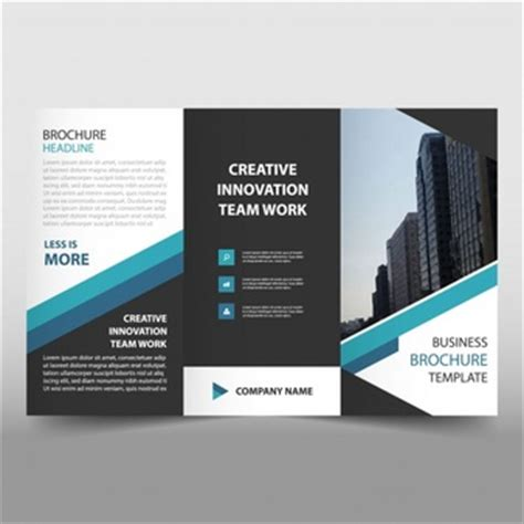 blue business trifold leaflet brochure flyer template brochure vectors photos and psd files free download