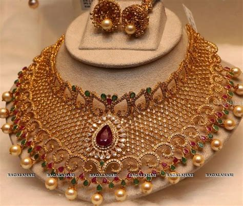 diamond necklaces indian jewellery designs latest uncut