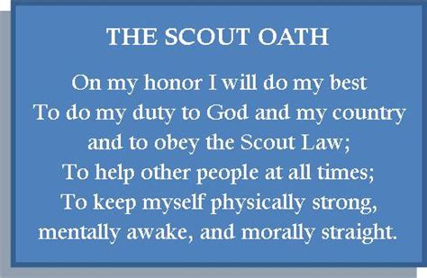 Scout Pledge About Scouting