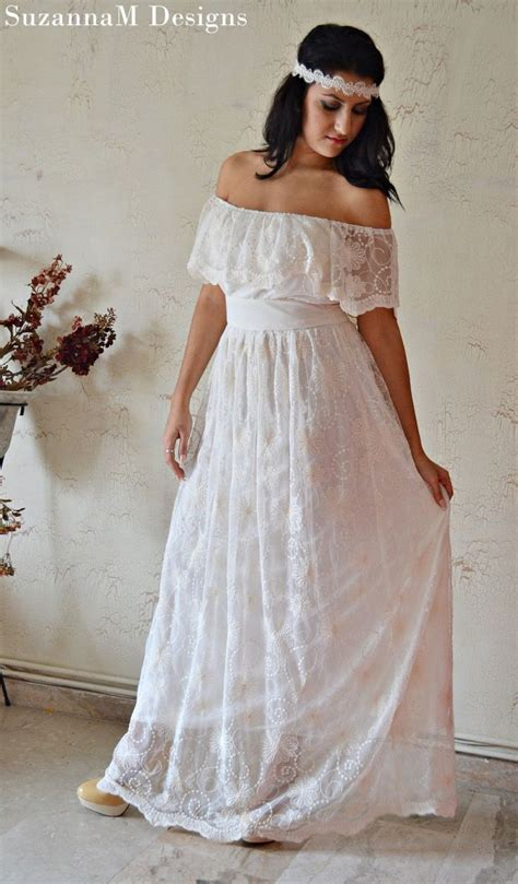 Vintage Cotton Wedding Dresses by Ivory Cotton Lace 70s Wedding Dress Vintage Wedding Gown