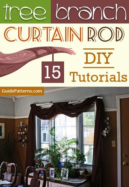 tree branch curtain rod  diy tutorials guide patterns
