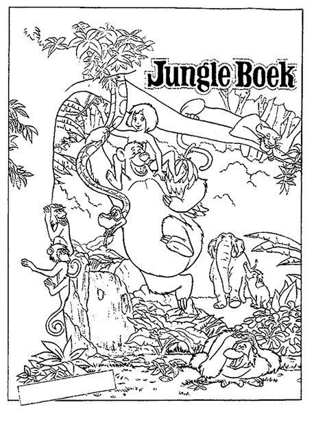 jungle book coloring pages coloringpagesabc com