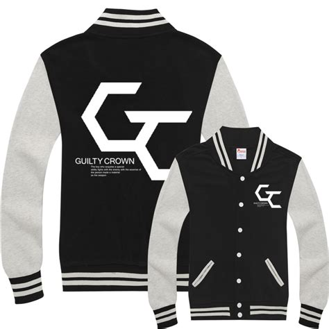 Hoodie Guilty Crown 313 Clothing guilty crown anime baseball jacket couples clothing
