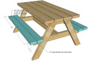 white build a bigger kid s picnic table diy projects