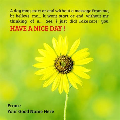Have a Nice Day ? Write name on image
