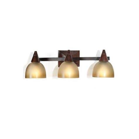 Home Depot Vanity Lights by Home Decorators Collection Kyoto 3 Light Oak Vanity