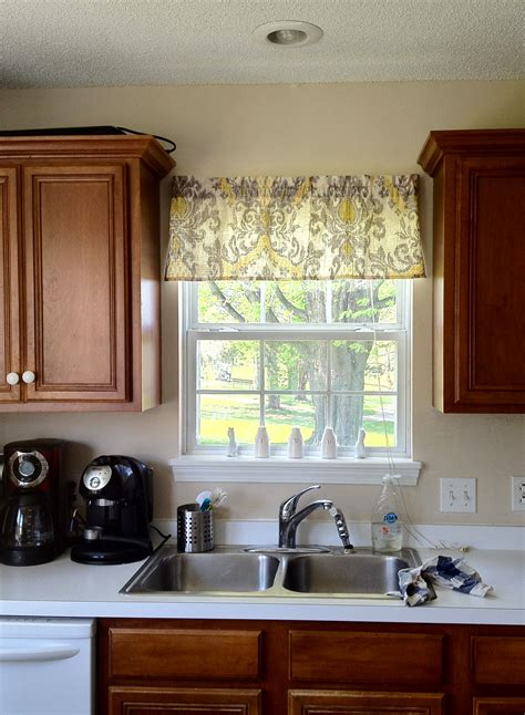 Kitchen Window Valences And Easy Window Valance It With Danielle