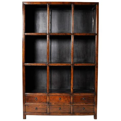 chinese display cabinet with six drawers for sale at 1stdibs