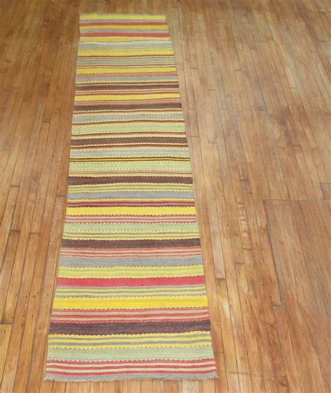 colorful rug runners vintage kilim colorful runner for sale at 1stdibs