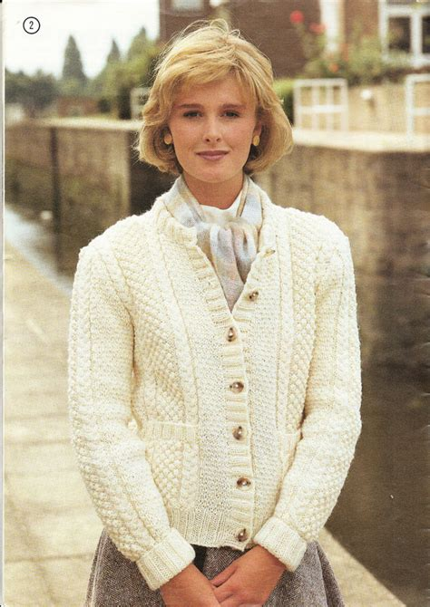 knitting pattern aran cardigan knitting pattern ladies cable moss stitch aran cardigan