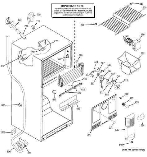 ge refrigerator maker parts diagram refrigerator parts ge refrigerator parts diagram list