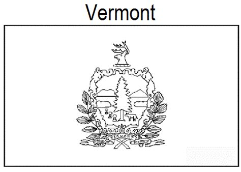 geography blog vermont state flag coloring page