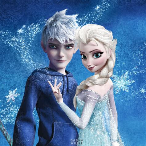 film elsa and jack frost jack and elsa jelsa by dashawhite deviantart com on