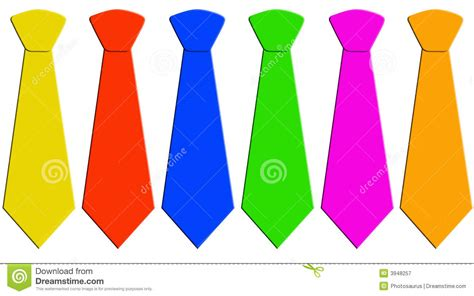 tie color six neckties in different colors royalty free stock