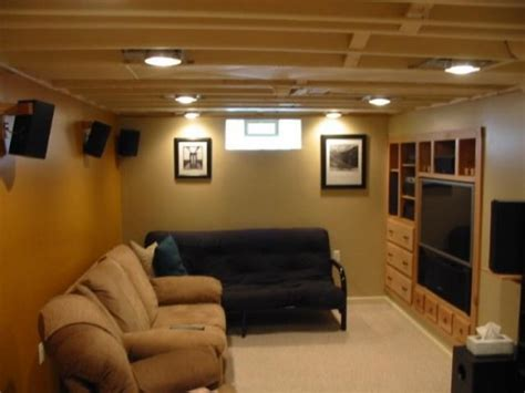 unfinished basement ceiling low ceiling basement lighting ideas