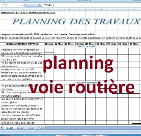 modele planning travaux annuel
