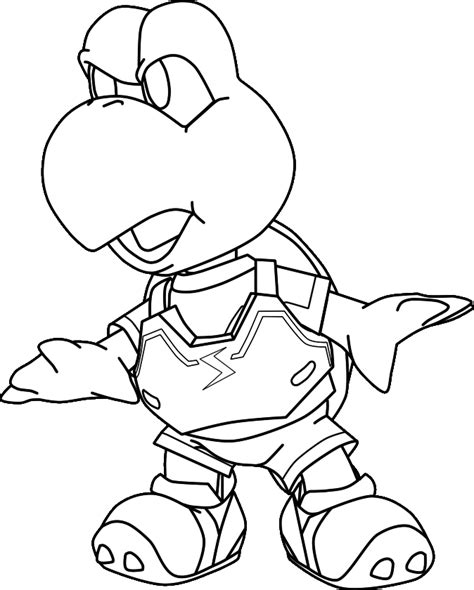 koopa troopa coloring pages coloring home