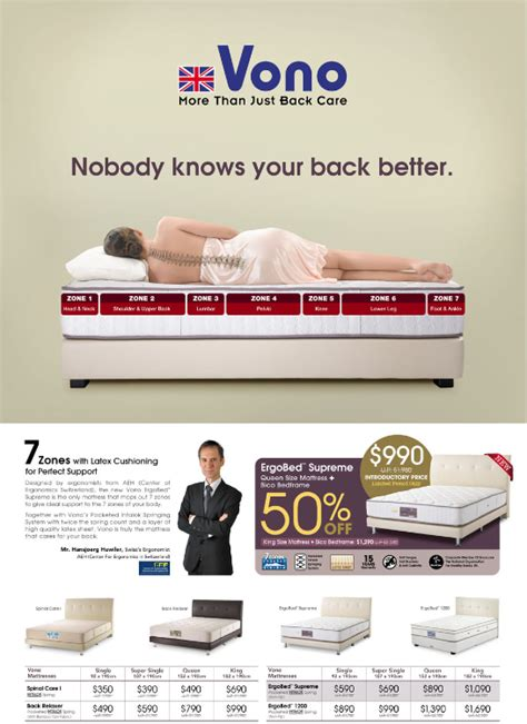 Vono Mattress Review Singapore by Singapore Furniture Offers Vono Bed And Mattress Offer
