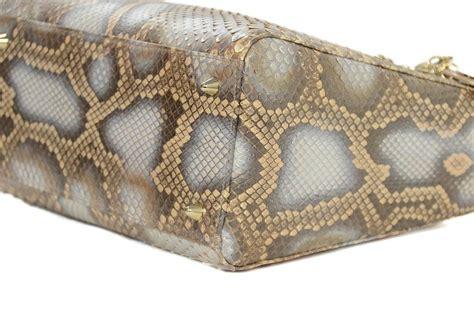 7817 Cing Bag Grey christian grey python bag w shoulder at 1stdibs