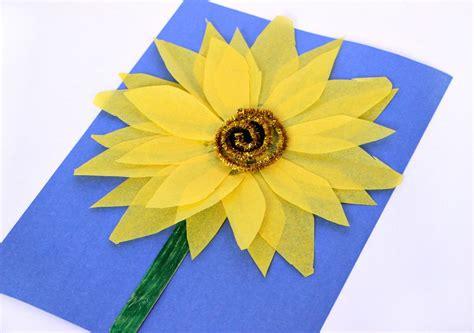 Sunflower Paper Craft - easy sunflower craft with tissue paper