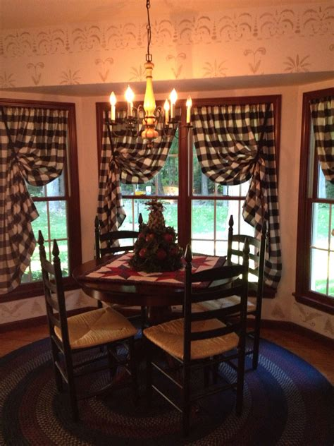 primitive decor curtains kitchen nook i especially love the rug and the way the