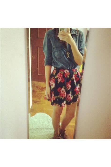 floral skirt forever21 shirts denim shirt zara shirts