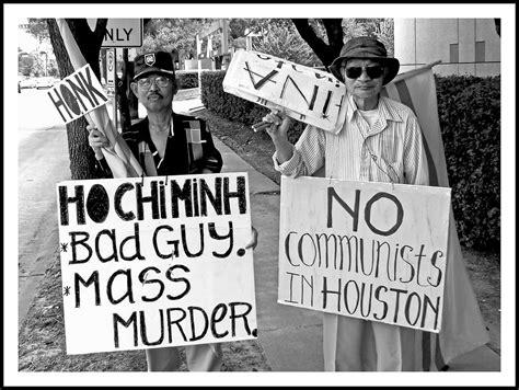 anti communist protest  houston texas