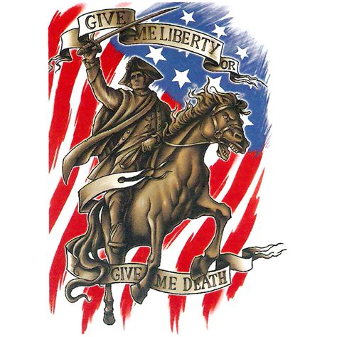 american made tattoo freedom ink temporary quot give me liberty or give me