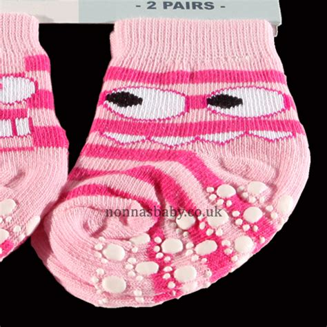Anti Slip Sock Shoes Pink two pairs of anti slip socks for