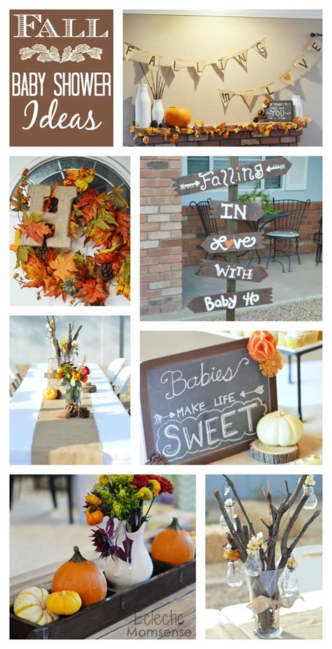 fall themed baby shower fall in with baby shower eclectic momsense