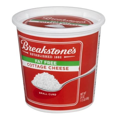 breakstone s free cottage cheese small curd 24 oz