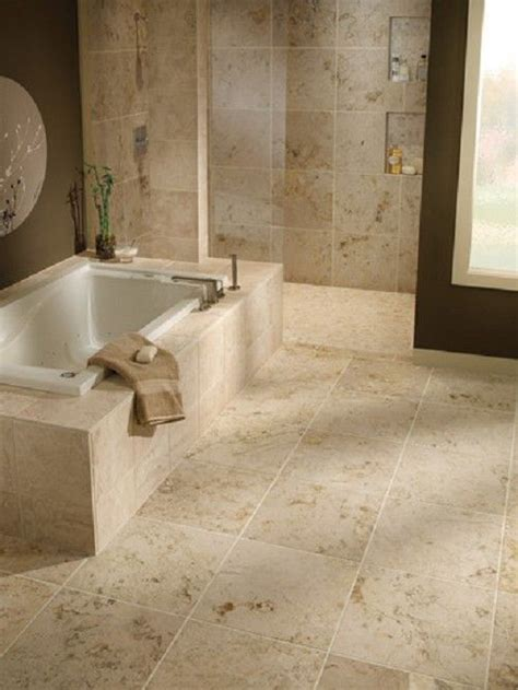 bathrooms travertine gray     and Baja Cream Travertine