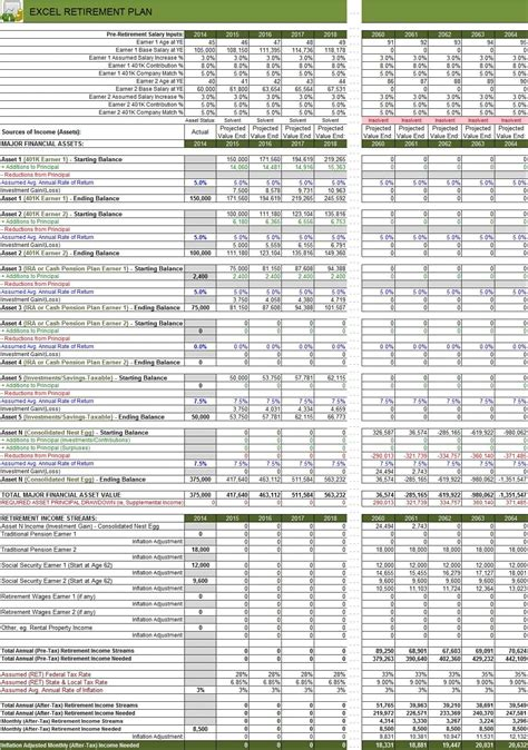 Financial Excel Spreadsheet by Retirement Planning Worksheet Fp120 And Financial Planning