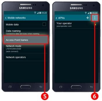 how do i reset the apn access point name on my galaxy a5 samsung support uk