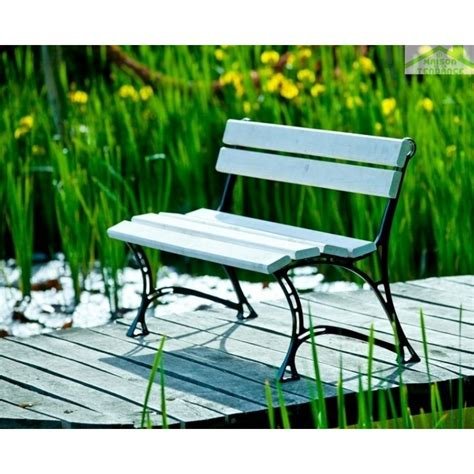 Banc Jardin Blanc by Banc De Jardin Blanc En Bois Et Aluminium 150cm